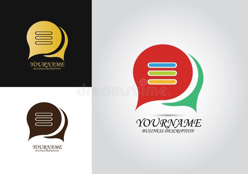 Logo di conversazione di chiacchierata del messaggio illustrazione di stock