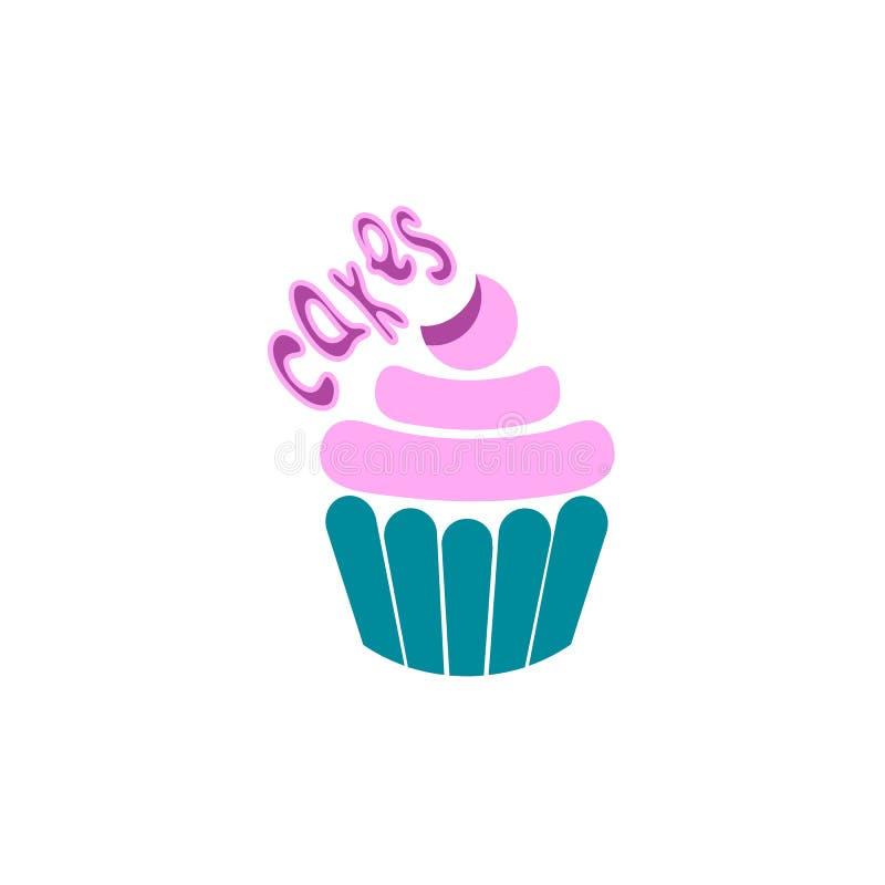Logo di cottura Progettazione del modello di logo del dolce illustrazione di stock