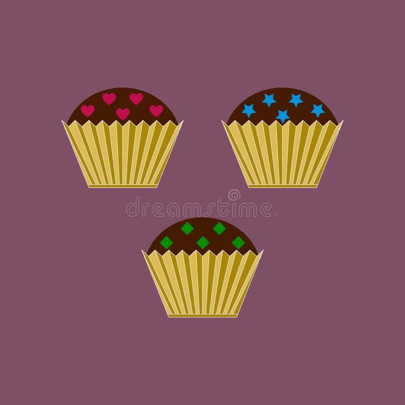 Logo di cottura Progettazione del modello di logo del dolce royalty illustrazione gratis