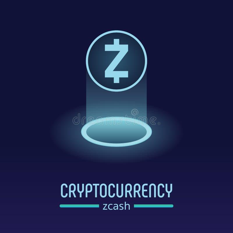 Logo di cryptocurrency del blockchain di Zcash fotografia stock libera da diritti
