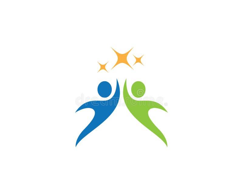Logo di cura della Comunità illustrazione vettoriale