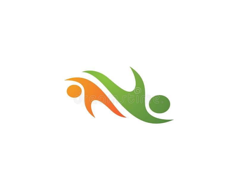 Logo di cura della Comunità illustrazione di stock