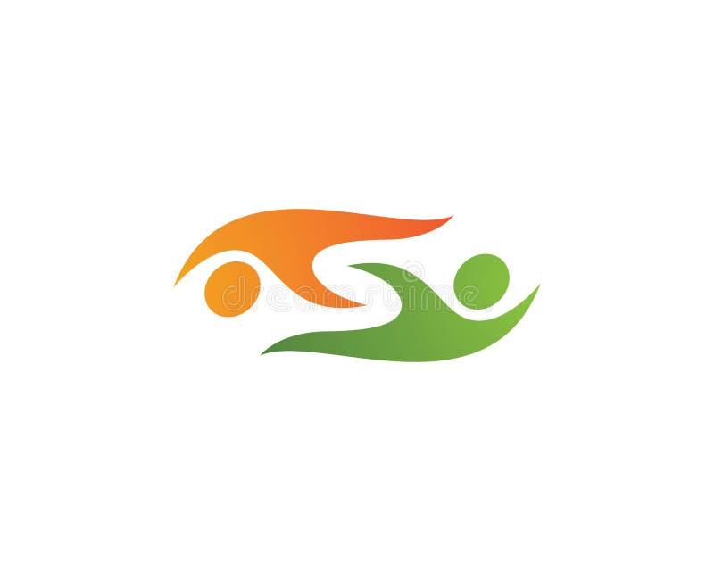 Logo di cura della Comunità royalty illustrazione gratis