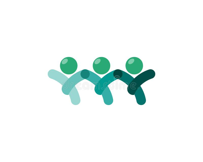 Logo di cura della gente della Comunità e modello di simboli royalty illustrazione gratis