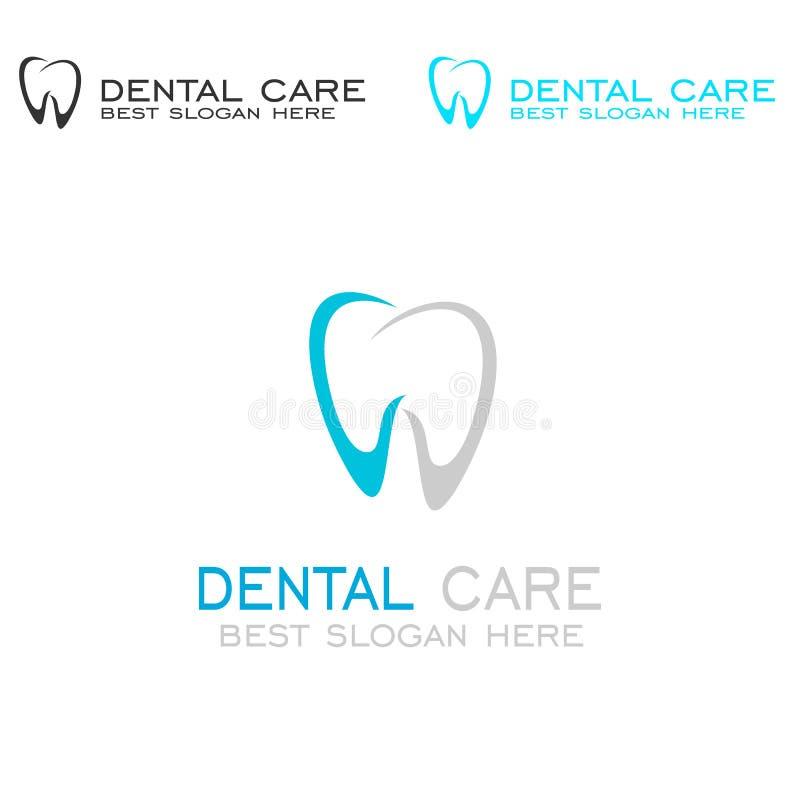 Logo di cure odontoiatriche illustrazione vettoriale
