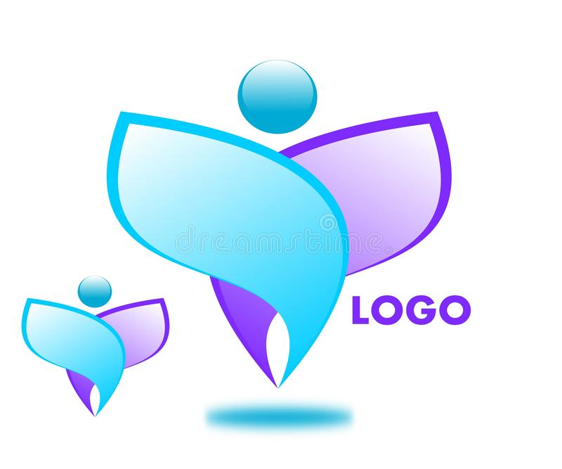 Logo di disegno della societ? royalty illustrazione gratis