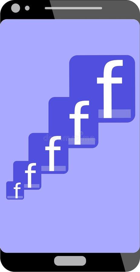 Logo di Faceboook in telefono cellulare royalty illustrazione gratis