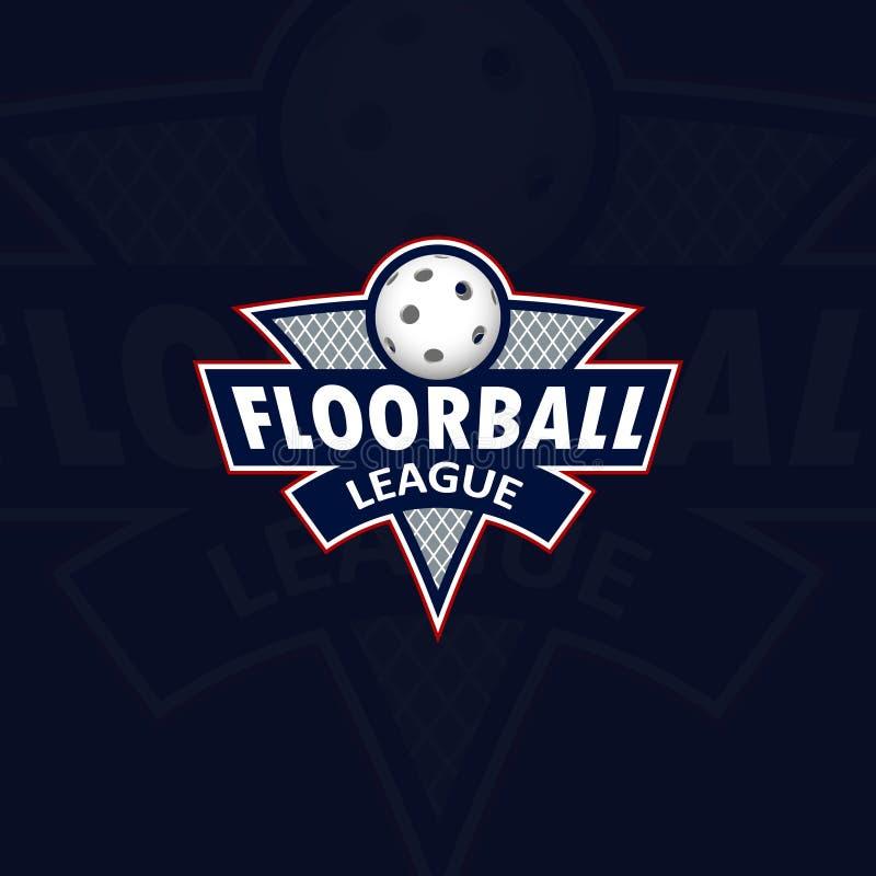 Logo di Floorball per il gruppo e la tazza royalty illustrazione gratis