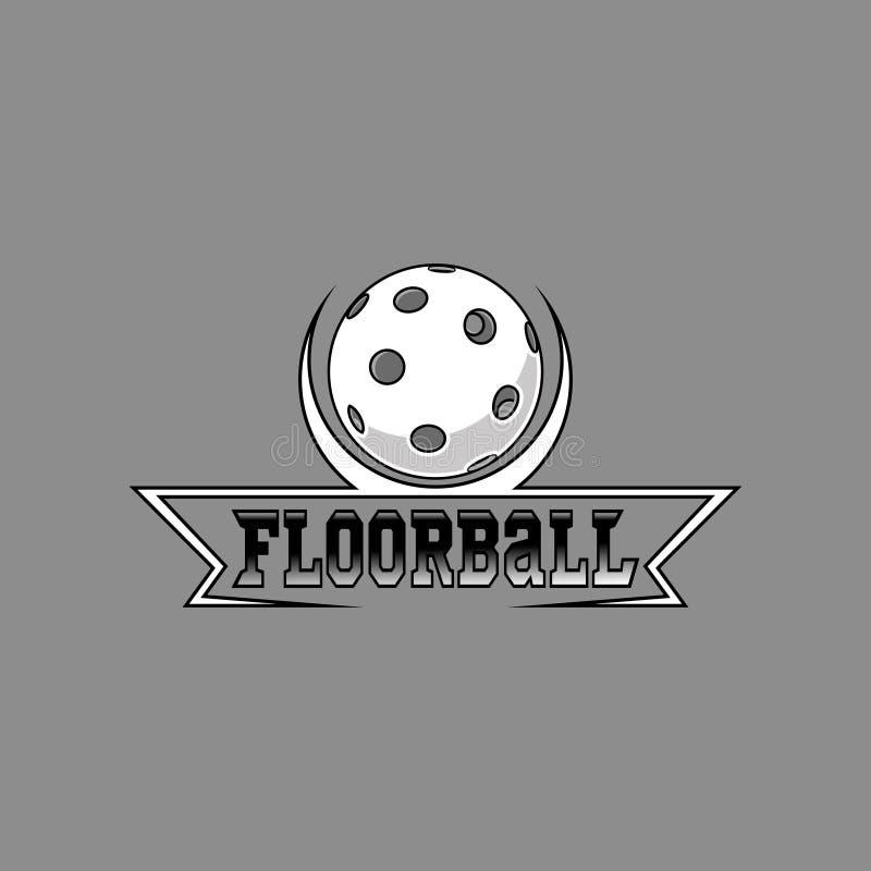 Logo di Floorball per il gruppo e la tazza illustrazione di stock