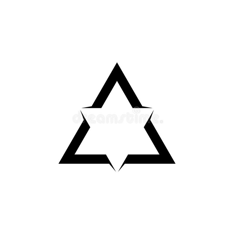 Logo di forma della stella del triangolo illustrazione di stock