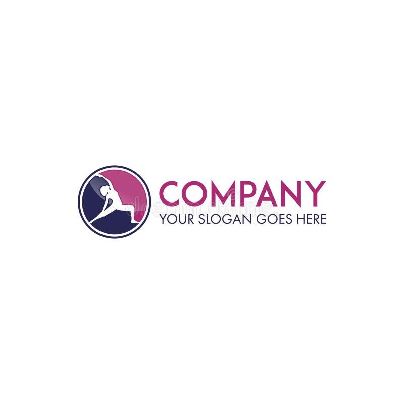 Logo di forma fisica e di yoga illustrazione di stock