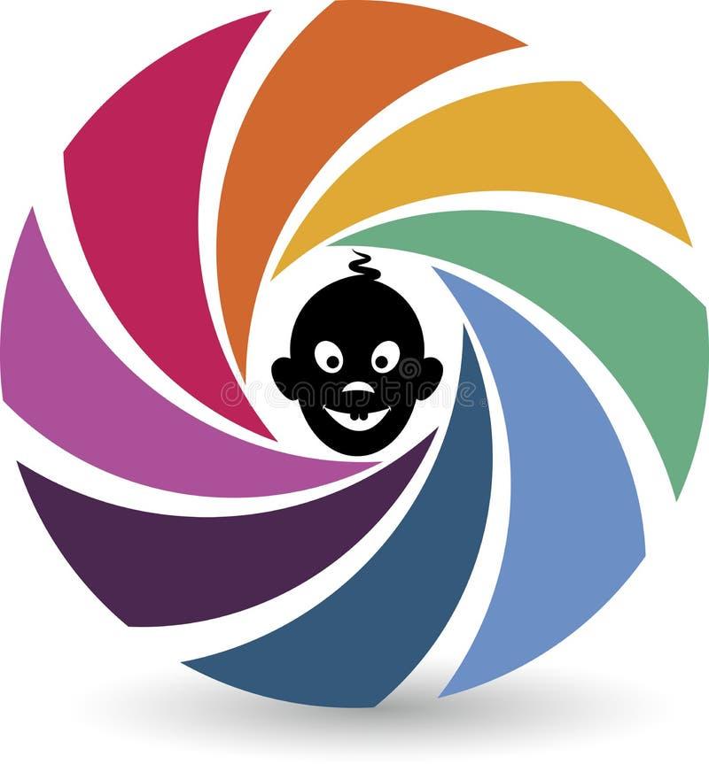 Logo di fotografia del bambino illustrazione vettoriale