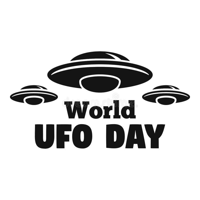 Logo di giorno del UFO del mondo, stile semplice royalty illustrazione gratis
