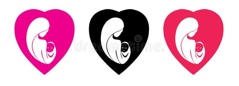 Logo di giorno di madri illustrazione di stock