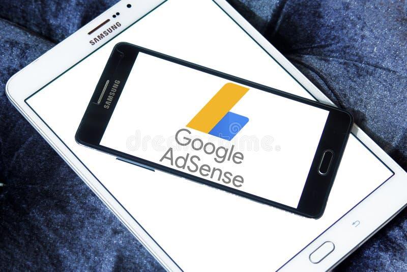 Logo di Google AdSense immagine stock
