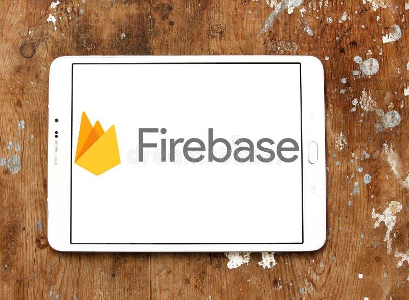 Logo di Google del Firebase fotografia stock