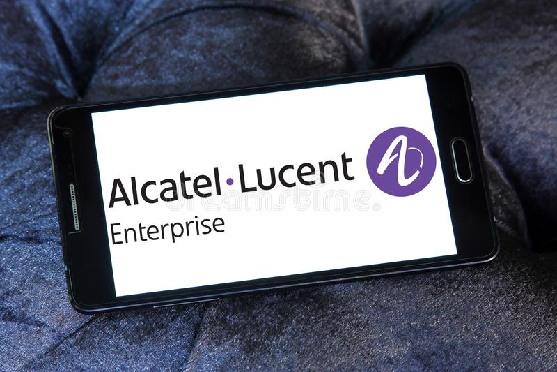 Logo di impresa di Alcatel-Lucent immagini stock libere da diritti