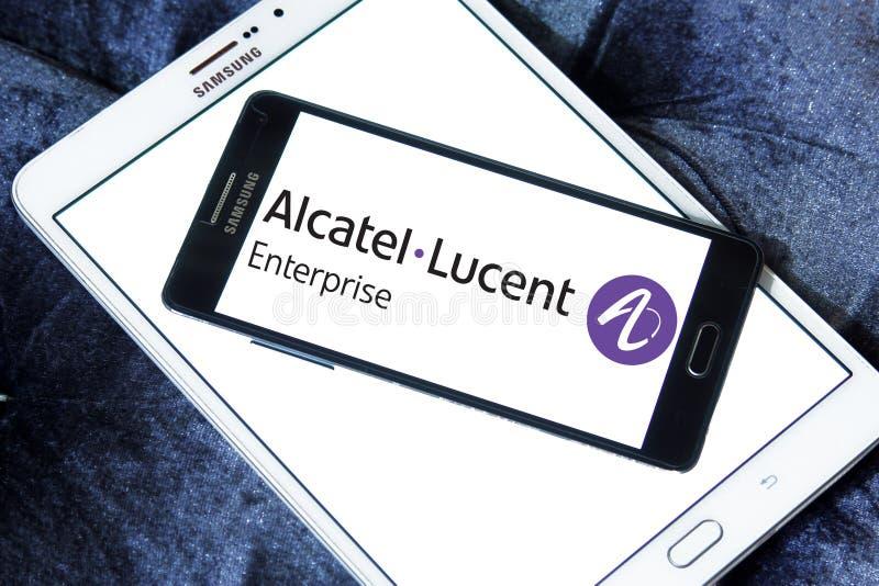 Logo di impresa di Alcatel-Lucent immagine stock