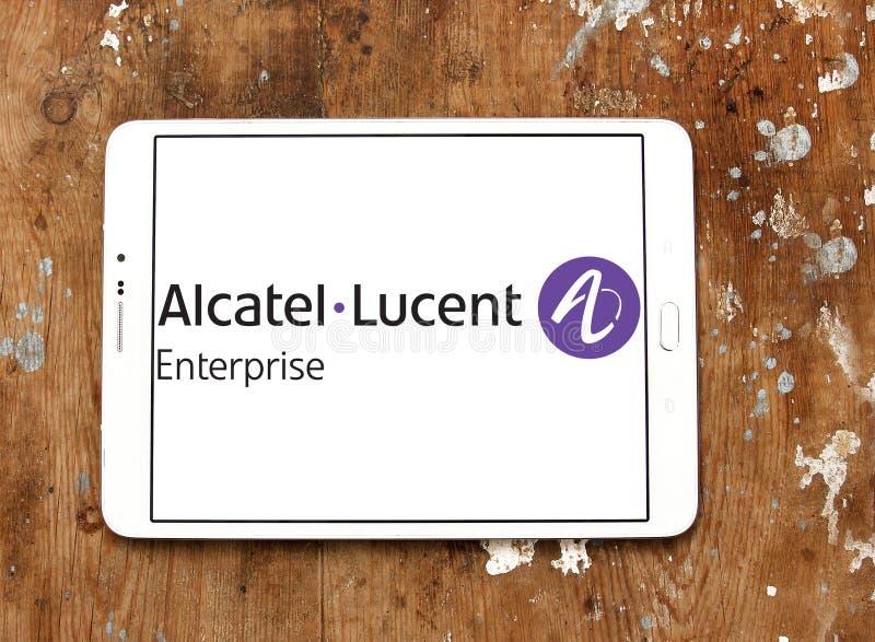 Logo di impresa di Alcatel-Lucent immagine stock libera da diritti