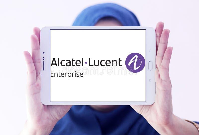 Logo di impresa di Alcatel-Lucent fotografie stock libere da diritti