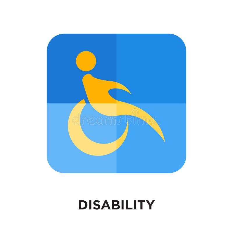 logo di inabilità isolato su fondo bianco per il vostro web, mobil immagini stock libere da diritti