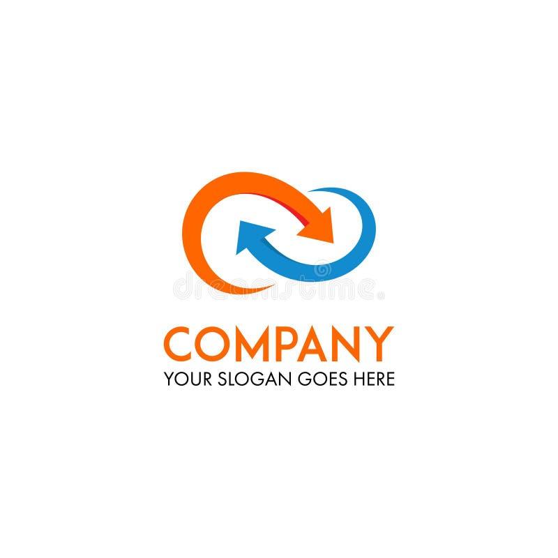 Logo di infinito con la freccia royalty illustrazione gratis