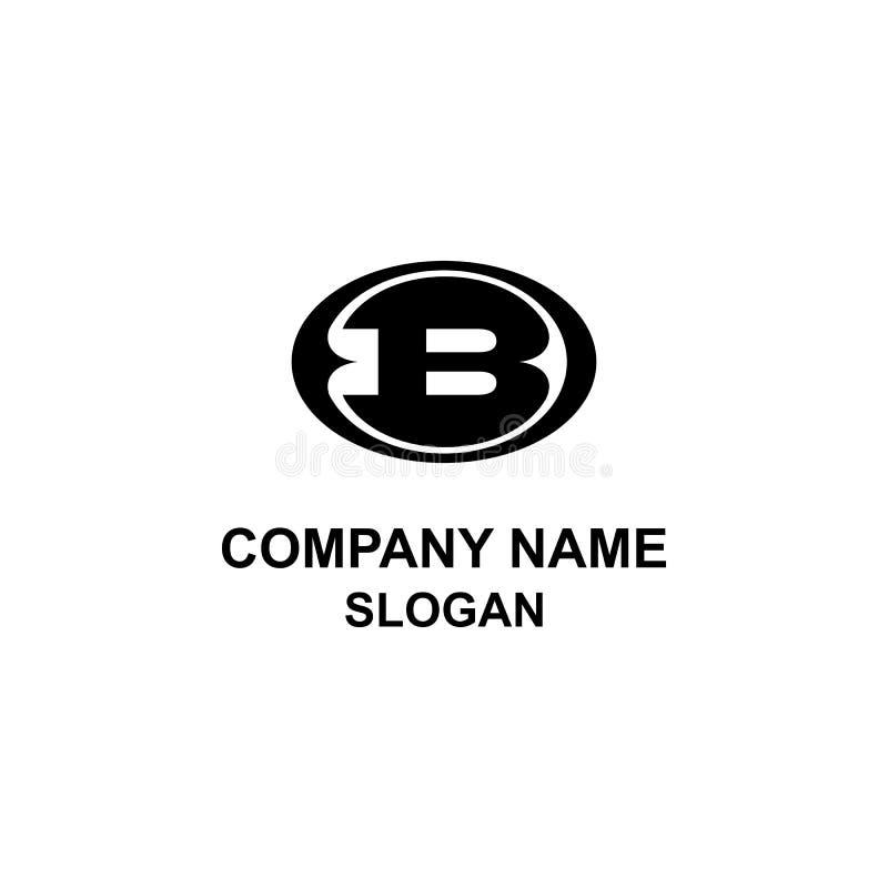 Logo di iniziale della lettera dell'emblema B royalty illustrazione gratis