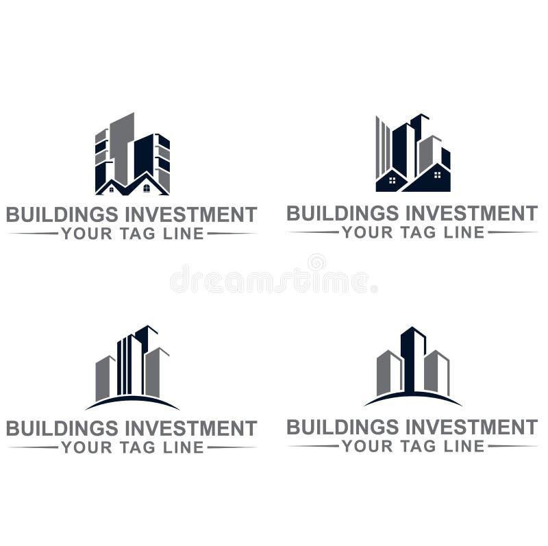 Logo di investimento delle costruzioni illustrazione di stock