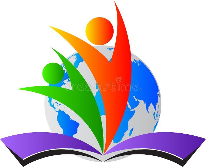 Logo di istruzione del mondo illustrazione di stock