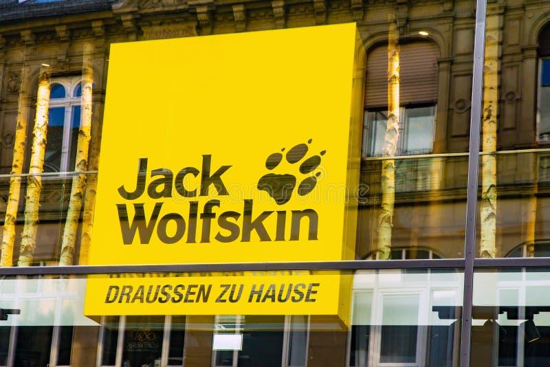 Logo di Jack Wolfskin fotografia stock libera da diritti