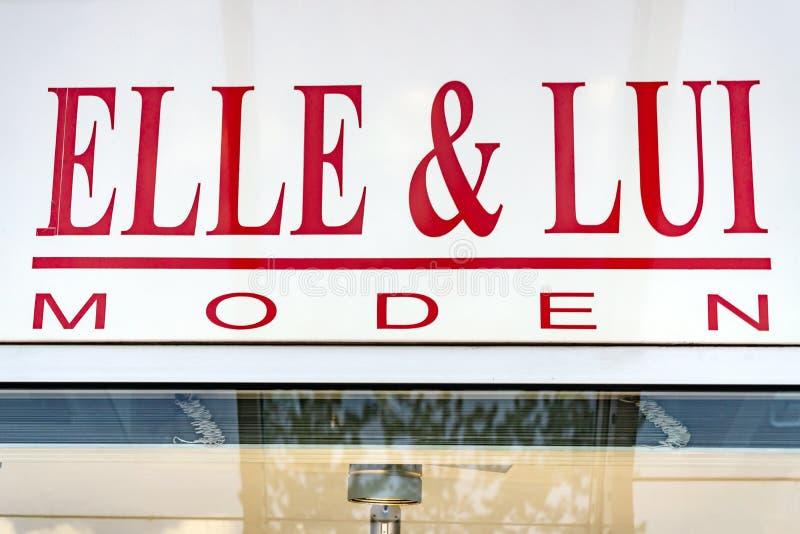 Logo di LUI e di ELLE fotografia stock libera da diritti