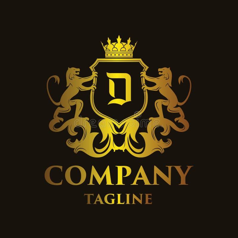 Logo di lusso del ` del ` D della lettera illustrazione di stock
