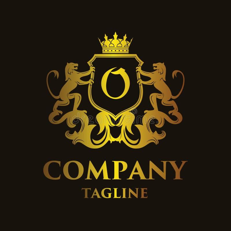 Logo di lusso del ` del ` O della lettera illustrazione di stock