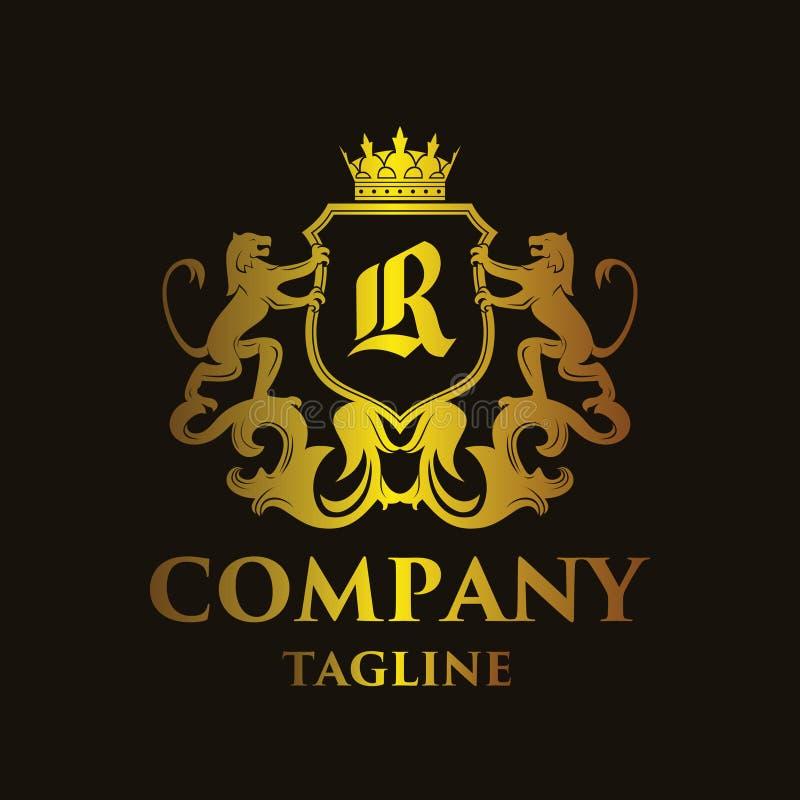 Logo di lusso del ` del ` R della lettera illustrazione vettoriale