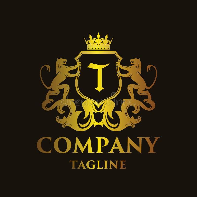 Logo di lusso del ` del ` T della lettera illustrazione vettoriale