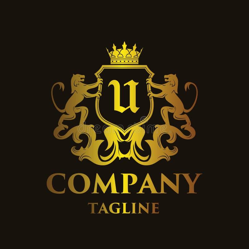 Logo di lusso del ` del ` U della lettera royalty illustrazione gratis