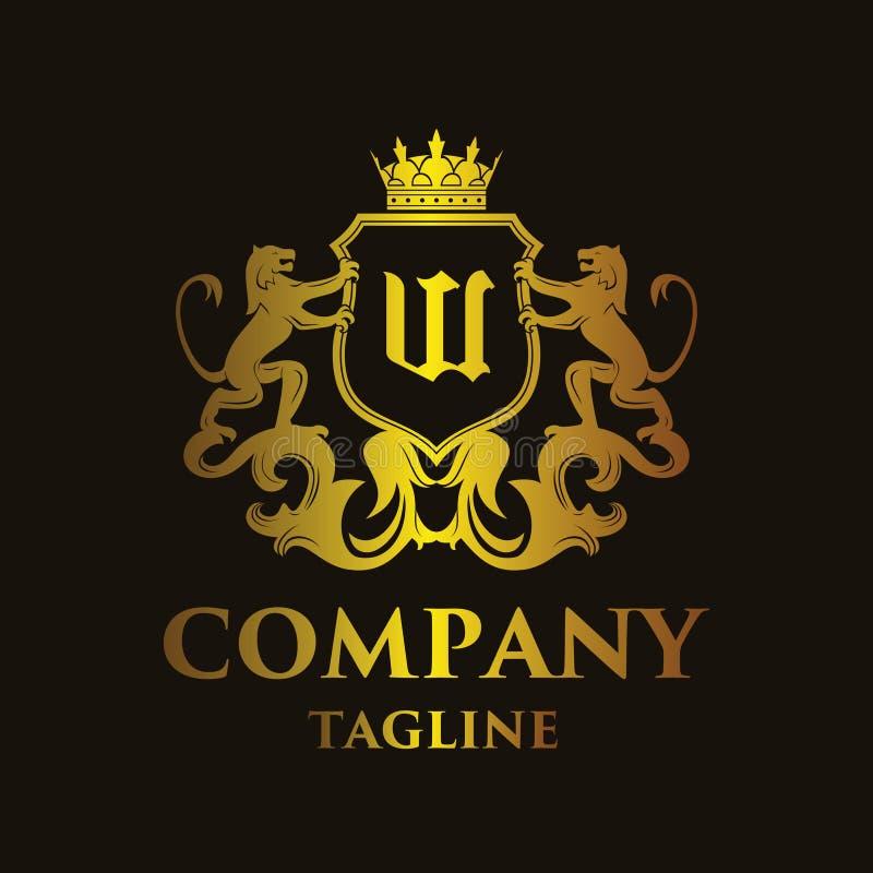 Logo di lusso del ` del ` W della lettera illustrazione vettoriale