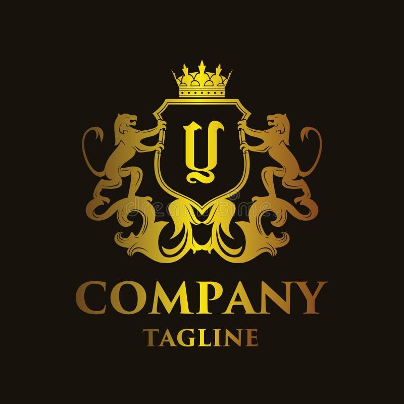 Logo di lusso del ` del ` Y della lettera illustrazione di stock