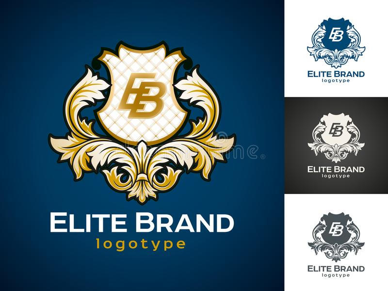 Logo di lusso di vettore illustrazione di stock