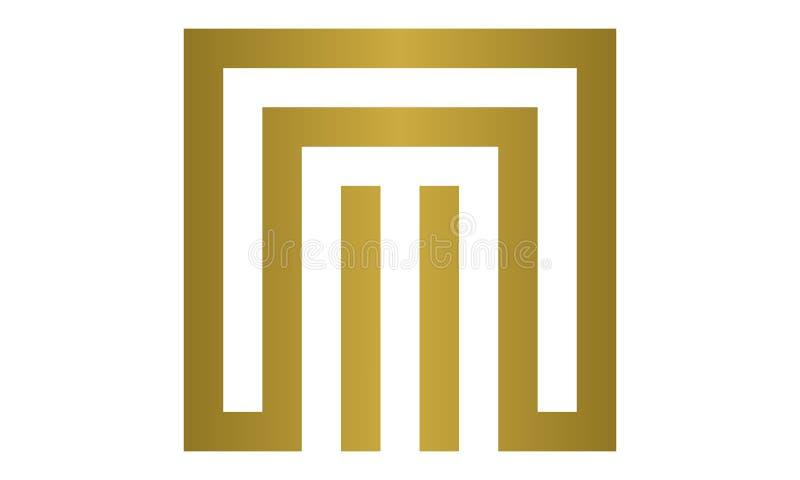 Logo di lusso di vettore di m. royalty illustrazione gratis