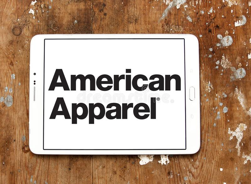 Logo di marca dell'abbigliamento di American Apparel immagini stock libere da diritti