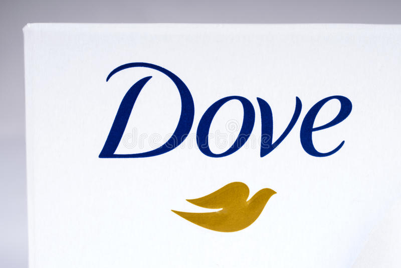 Logo di marca della colomba fotografia stock libera da diritti