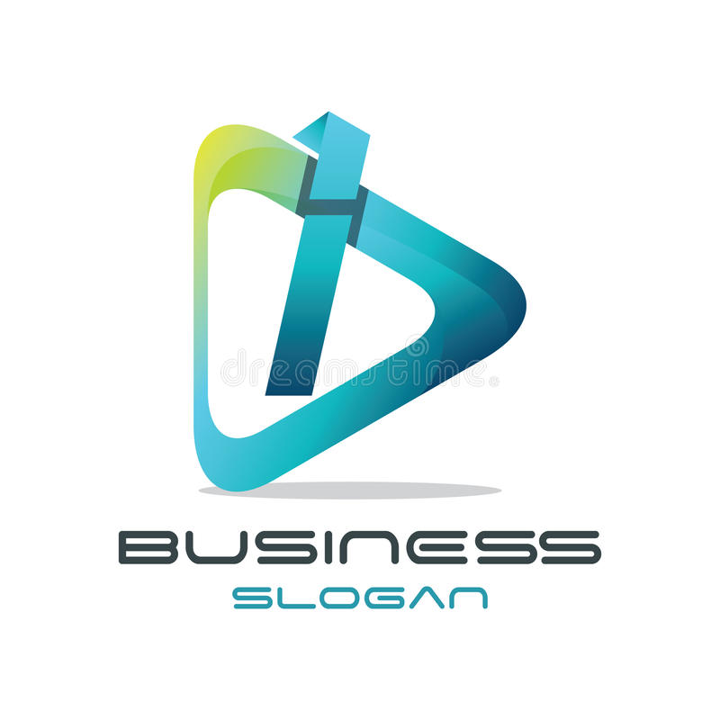 Logo di media della lettera i illustrazione vettoriale