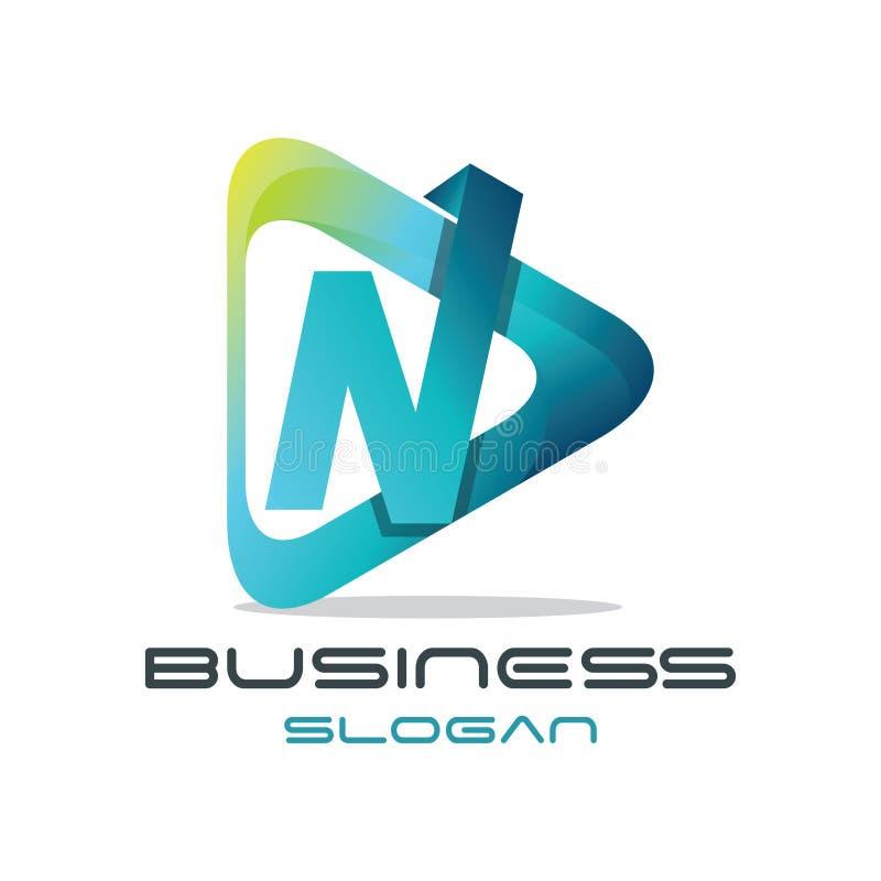 Logo di media della lettera N royalty illustrazione gratis
