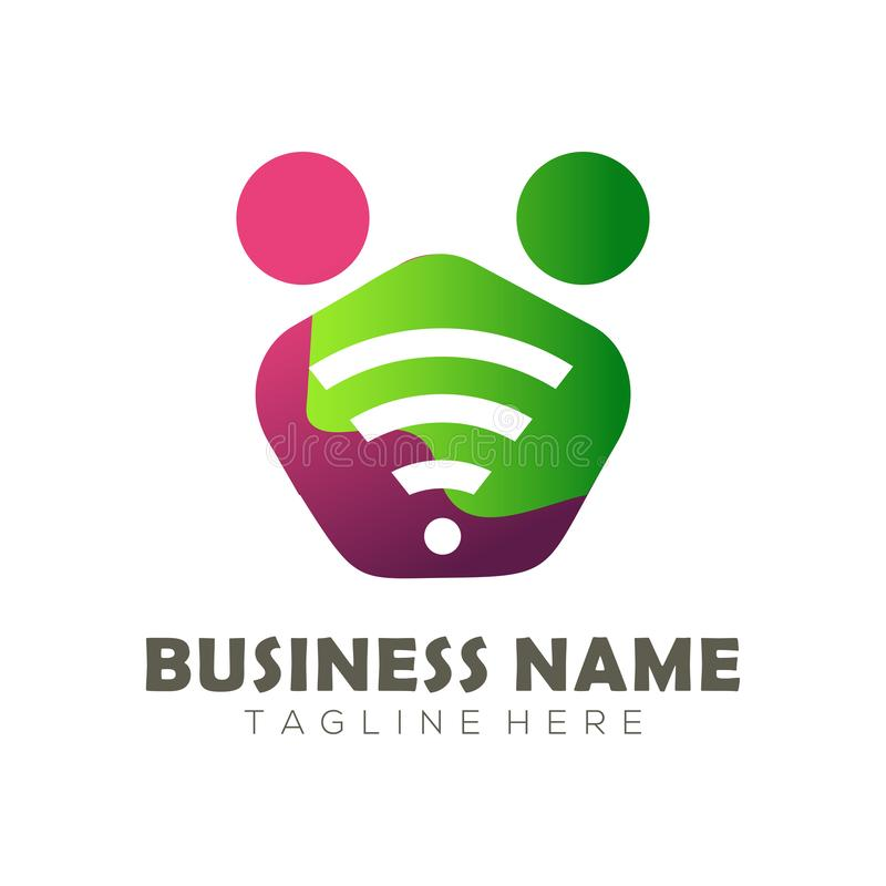Logo di media e progettazione sociali dell'icona royalty illustrazione gratis