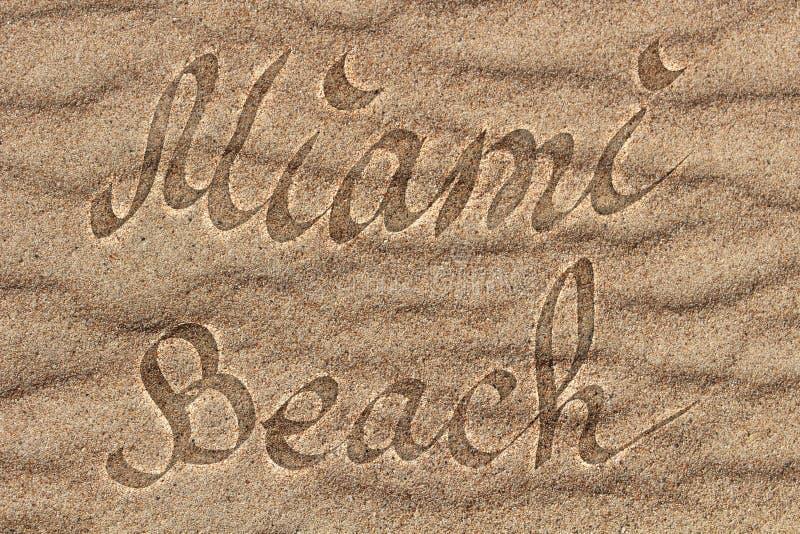 Logo di Miami una immagini stock libere da diritti