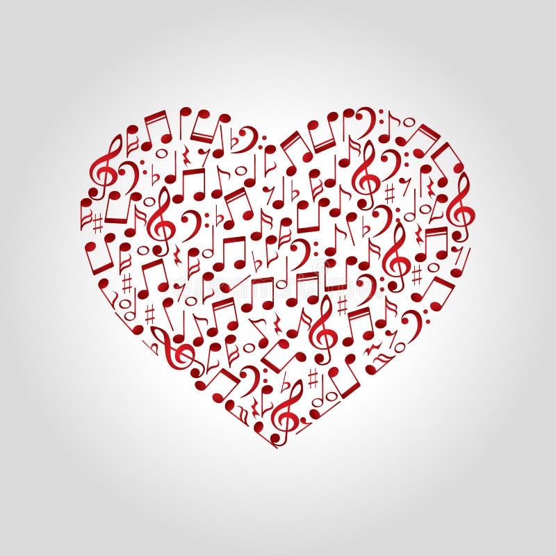 Logo di musica del cuore royalty illustrazione gratis