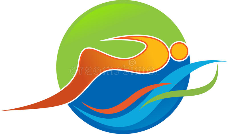 Logo di nuoto royalty illustrazione gratis