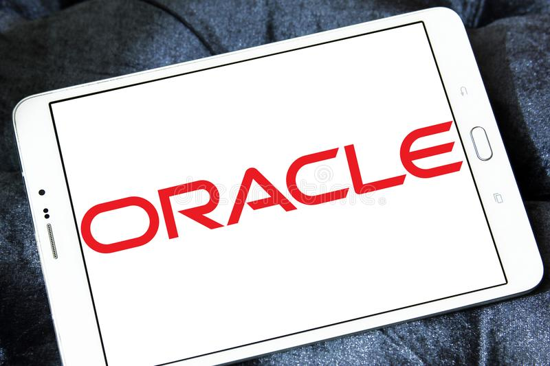 Logo di Oracle immagini stock