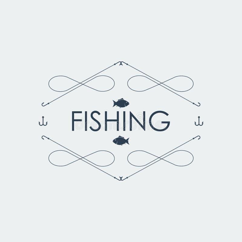 Logo di pesca Illustrazione di vettore illustrazione vettoriale
